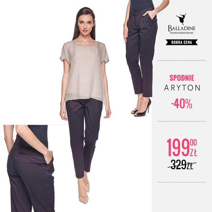 Klasyczne, czarne spodnie to podstawa każdej szafy i element wielu stylizacji, wybierz te z bawełny z domieszką sztucznych włókien. Będą się dobrze nosić, nie będą się gnieść a przy tym nie stracą swojego fasonu podczas prania.  Czarne spodnie z mankietami marki Aryton teraz w jeszcze lepszej cenie! >> http://goo.gl/bocEeg