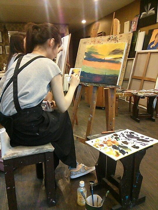 oil painting starter | My studio is Gangnam style^^! | Pinterest | Oil ...