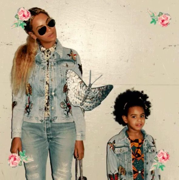 Beyoncé And Blue Ivy's Matching Fashion Is Adorable