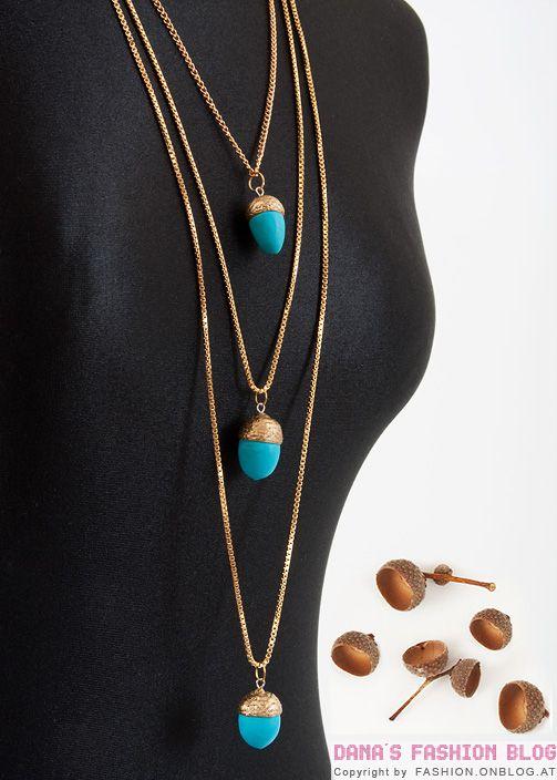 DIY Tutorial: Eichel-Halskette aus Eichel-Kappen und Fimo, aber auch mit anderen Materialien möglich. Der Fantasie sind keine Grenzen gesetzt.....