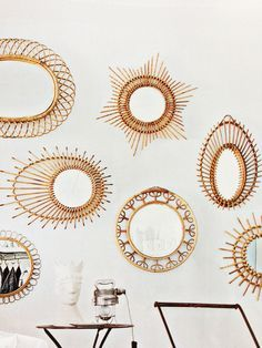 Rattan mirror gallery wall- get the look.