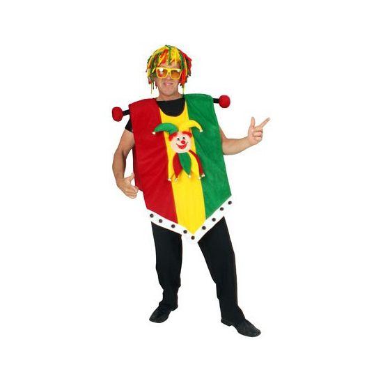 Vaandel Limburg kostuum, one size voor volwassenen. Dit grappige Carnaval kostuum trekt u gemakkelijk over uw eigen kleding aan. Carnavalskleding 2015 #carnaval
