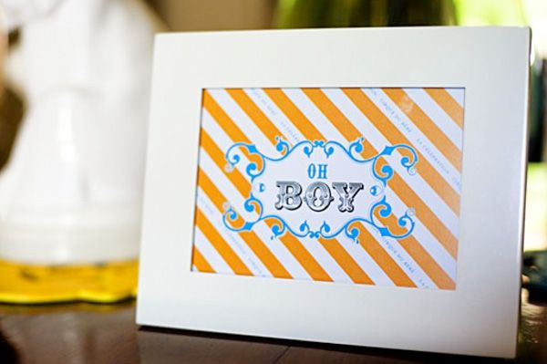 Maybe a different framed printable on every table? (Baby shower decor)