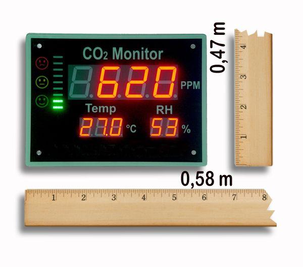 http://www.termometer.se/Matare-Anslagstavla-for-Koldioxidhalt-Temperatur-och-Luftfuktighet.html  Klimattavla för realtidsvisning av Koldioxidhalt, Temperatur och Luftfuktighet - Termometer.se  Inomhusklimat är ett mått luftens kvalite och har stor påverkan på hur människor mår och presterar. I Sverige, särskilt på vinterhalvåret, brottas vi med problematiken god ventilation kontra mot kostnaden för att värma upp luften i rummet.   Om ventilationen blir för dålig är det främst...