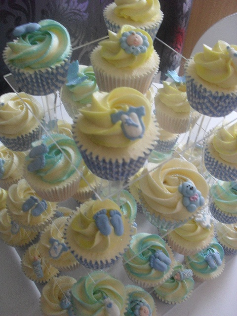 Boys Christening cupcakes  by Cupcake Twins, via Flickr