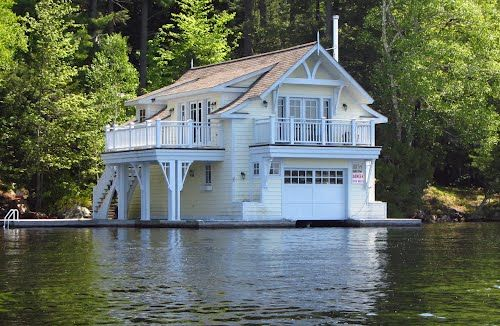 Yellow Boathouse Lake Muskoka