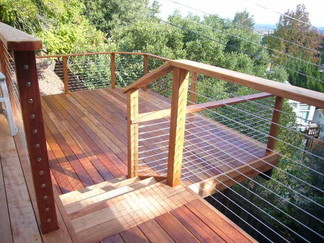 Best wire deck railing ideas on pinterest