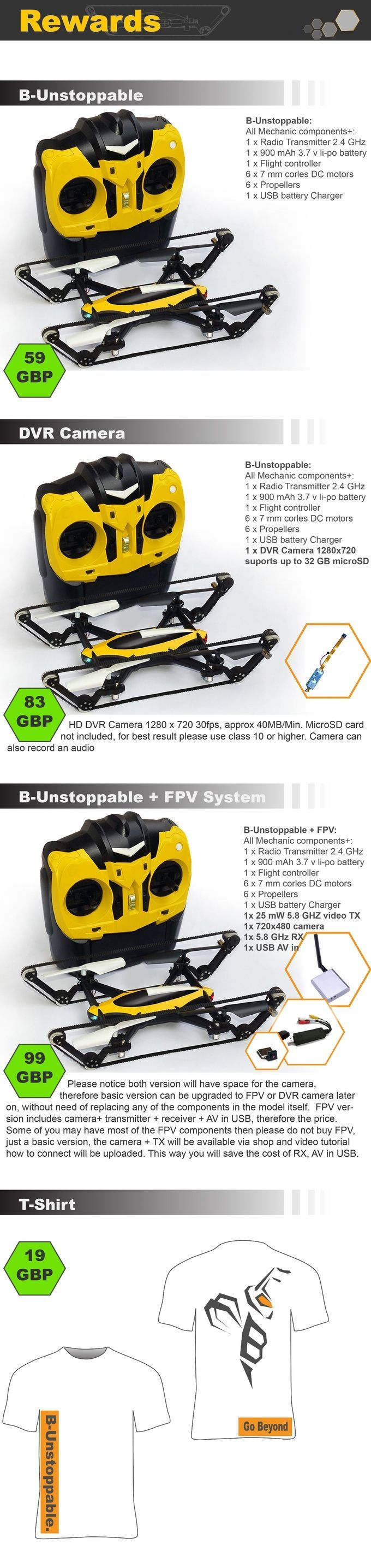 B-Unstoppable world first Tank Quadcopter Drone by B u2014 Kickstarter
