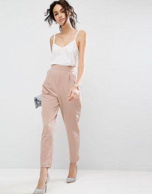 ASOS High Waist Tapered Pants