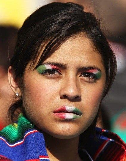Make up con i colori della nazionale