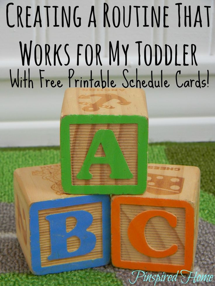 Pinspired Home: Creating a Routine That Works for My Toddler (With Free Printable!)