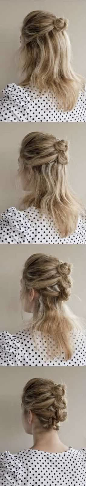 Work hairstyle for curls next day?