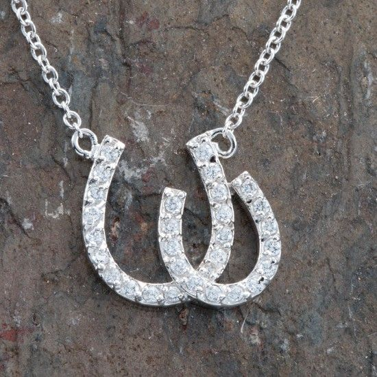 Sterling Silver Double Horseshoe Necklace