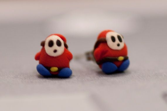Hey, I found this really awesome Etsy listing at https://www.etsy.com/listing/78238132/shy-guy-earrings-mario