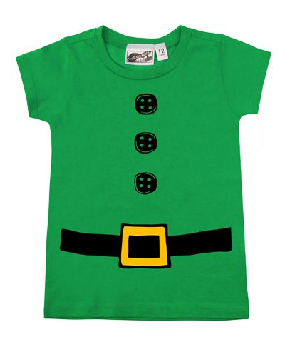 Green Elf T-shirt from My Baby Rocks -  more holiday gift ideas for babies & toddlers at  www.punkbabyclothes.net