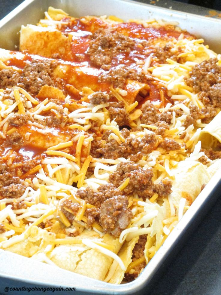 ground turkey enchiladas