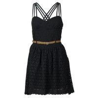 Was $89.95, Now $35  Made from 100% cotton this dress is comfortable and breathable.  Cute waist belt helps give definition to the waist while the strappy back adds a bit of fun.