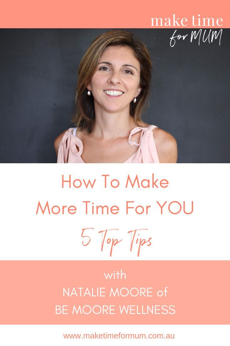 Want great tips to help make more time for YOU? This is a