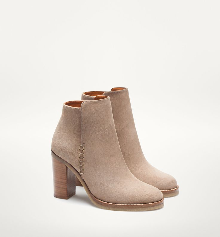 SPLIT SUEDE ANKLE BOOTS - New arrivals - WOMEN - Massimo Dutti