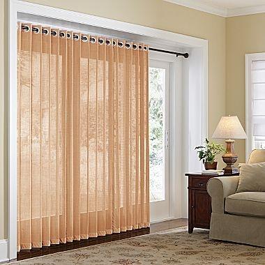 Home Naples Grommet Top Bamboo Panel Sliding Glass Door
