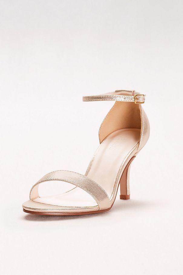 2a62305c2b8 Single Strap Sandal in Rose Gold DAVID S BRIDAL