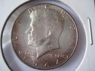 1964 KENNEDY HALF DOLLAR SILVER 90%