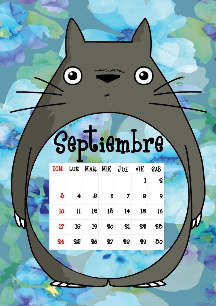 Calendario Totoro 2017 ♦ Septiembre ♦