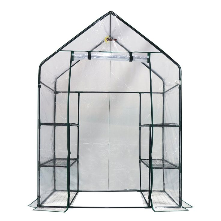 Ogrow OG6834-S Deluxe Walk-in 3-Tier 6-Shelf Portable Greenhouse | ATG Stores