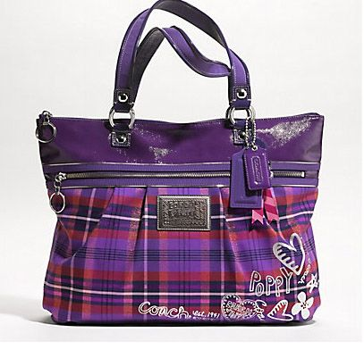Purple Tartan Glam Poppy Coach Bag This is the Coach bag I specifically WANT but can't find other then ebay...