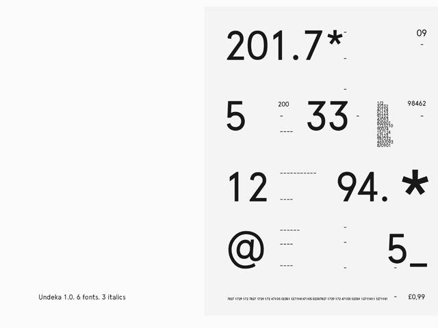 Undeka: A new contemporary font