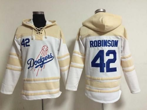 552f0b7e3 ... Baseball Jersey Cool Base Blue White Beige Mens Los Angeles Dodgers 42  Jackie Robinson Cool White Cool Base Stitched MLB Hoodies .