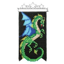 Earth Dragon - I've been looking at the beaded banners in stores for a while now, because they look fun to make. But then I ask myself what I'd do with them afterwards. THIS one I'd hang on our dining/gaming room wall.