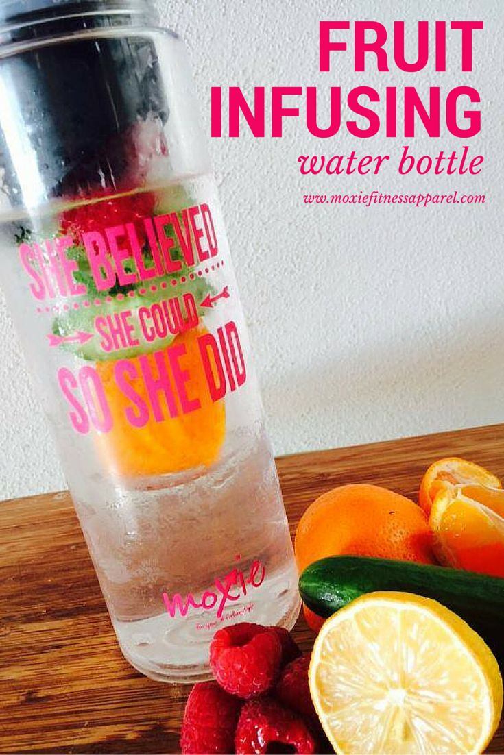 How refreshing is this!  It's easy to stay hydrated with this fruit infusing water bottle from Moxie Fitness Apparel