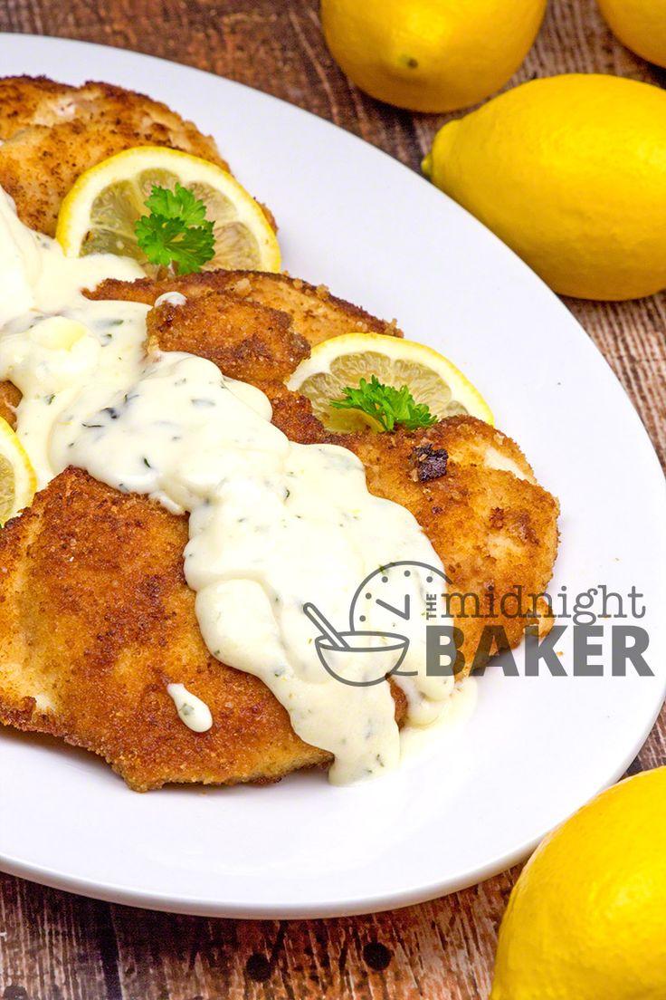 Chicken with Lemon Herb Cream Sauce - The Midnight Baker
