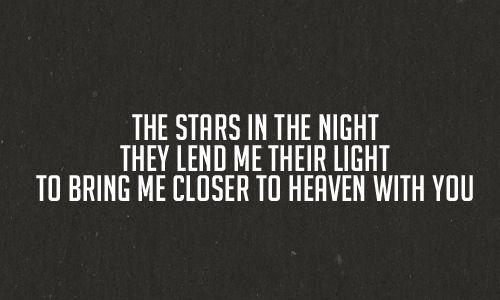 STARS GO DIM - HEAVEN ON EARTH LYRICS