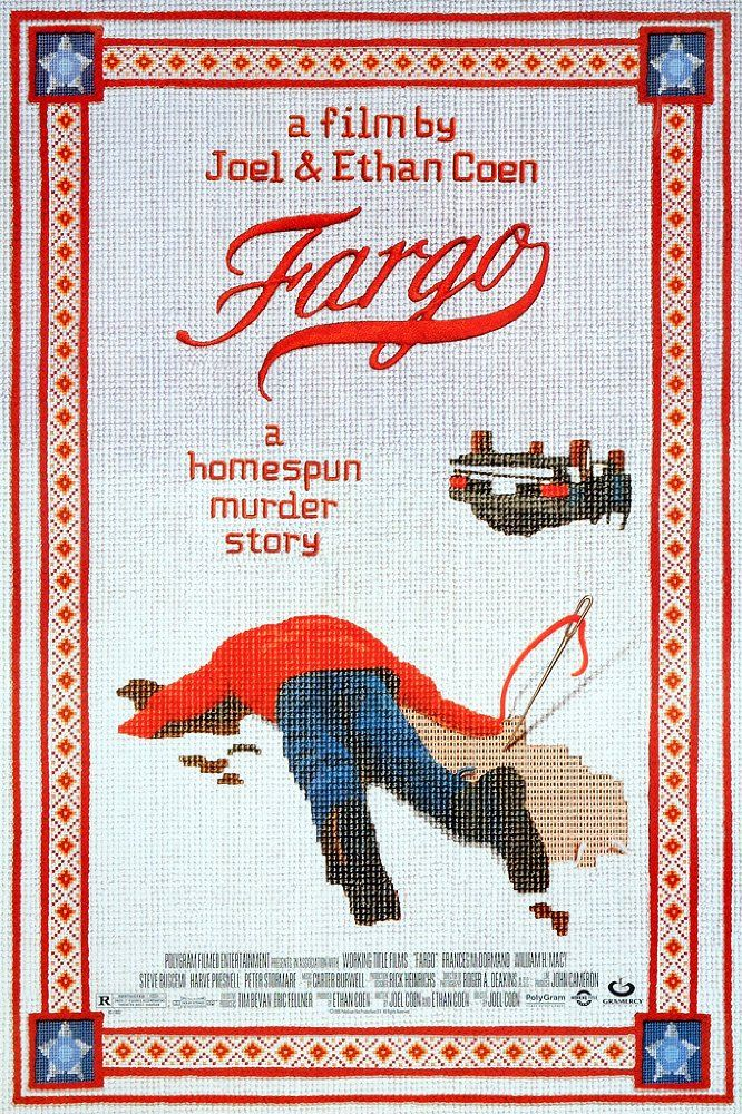 Directed by Joel Coen, Ethan Coen.  With William H. Macy, Frances McDormand, Steve Buscemi, Peter Stormare. Jerry Lundegaard's inept crime falls apart due to his and his henchmen's bungling and the persistent police work of the quite pregnant Marge Gunderson.