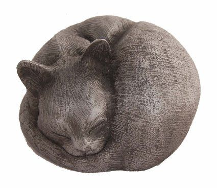 At Peace Cat Casket/Cat Urns - Pet Casket for Ashes (Pewter)