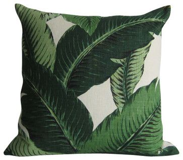 Swaying Palms Pillow Cover - Linen - Indoor Decorative Pillow - tropical - Bed Pillows And Pillowcases - FORTESCUE DESIGN/STUDIO TULLIA