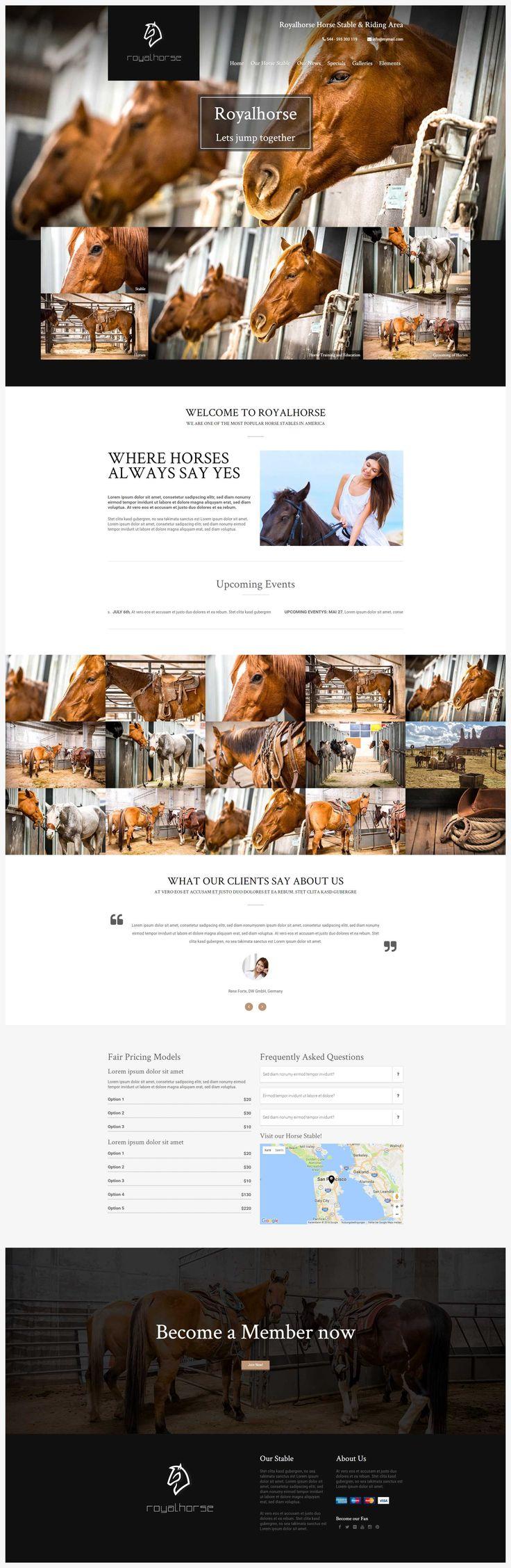 Royalhorse - Riding Stable WordPress Theme