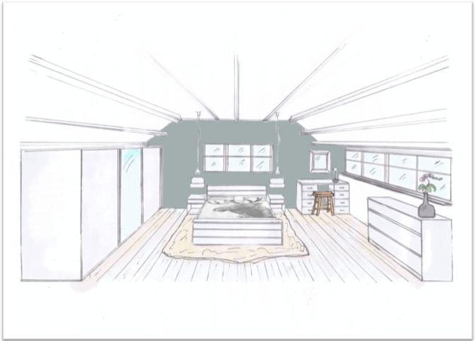 Groen van buiten naar binnen gehaald bw interiors for Interieur tekenen