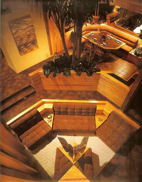 Cool Sunken Living Room Ideas For Your Dreamed House: Conversation Pits & Sunken Living Rooms