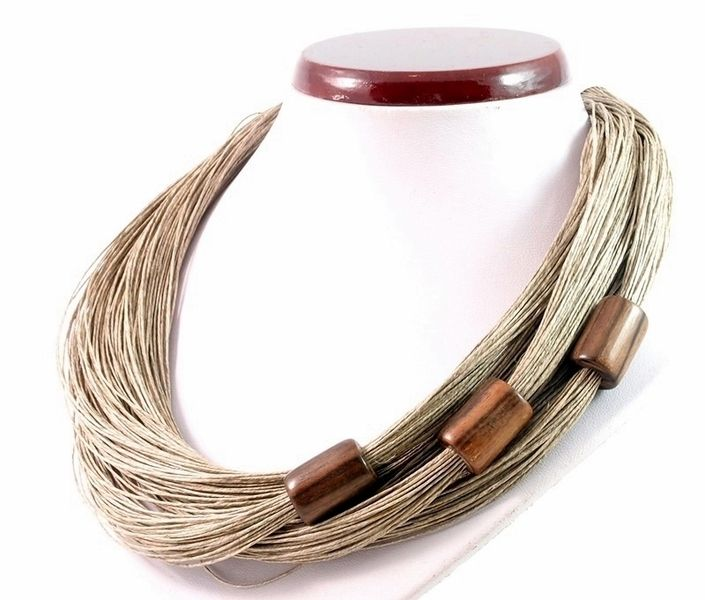 Linen necklace  from  by DaWanda.com