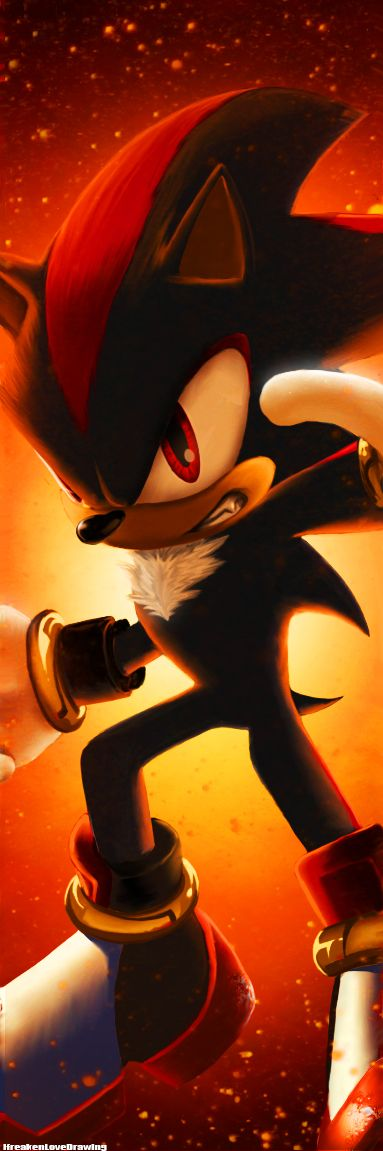 Shadow The Hedgehog by IfreakenLoveDrawing.deviantart.com on @deviantART gaming animation-Shadow the Hedgehog.-Sonic the hedgehog.