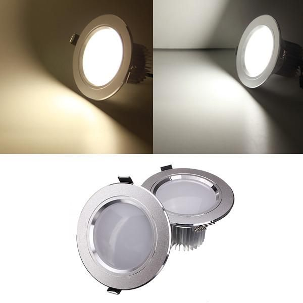 7w Led Downlight Ceiling Recessed Lamp Dimmable 110v Driver Led Down Lights Ceiling Lights