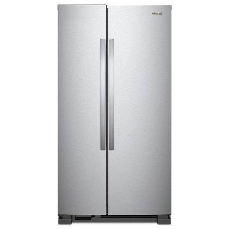 Whirlpool 36 in. W 25.07 cu. ft. Side by Side Refrigerator in Monochromatic Stainless Steel