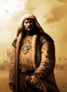 Genghis Khan (1162? – 1227) was the founder and Great Khan of the Mongol Empire.  He came to power by uniting many of the nomadic tribes of northeast Asia and initiating the Mongol invasions that resulted in the conquest of most of Eurasia.
