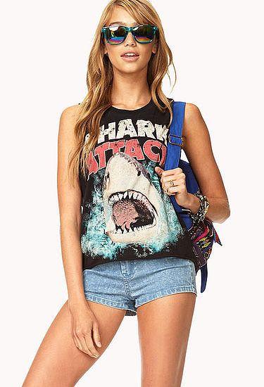 Shark tank for #SharkWeek @Forever 21