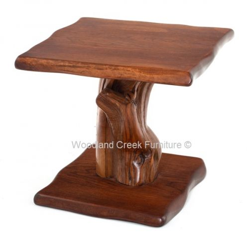 Rustic Natural Edge Cherry End Table