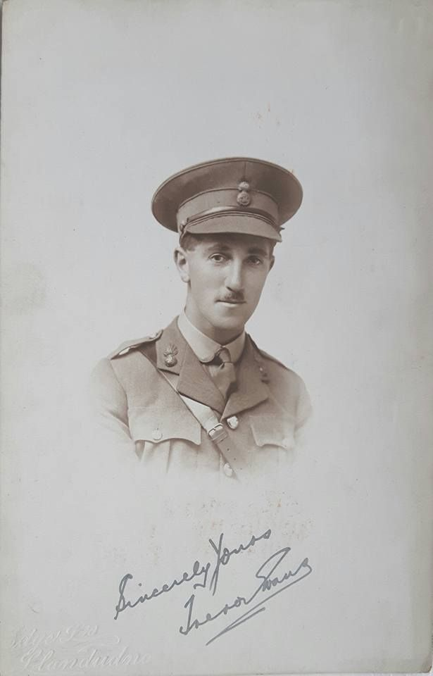 T. Evans was commissioned Temp 2/Lt (1/8/17) to the 4th (Vol) Bn RWF serving until relinquished his commission (30/3/20) and granted the Hon rank of 2/Lt.