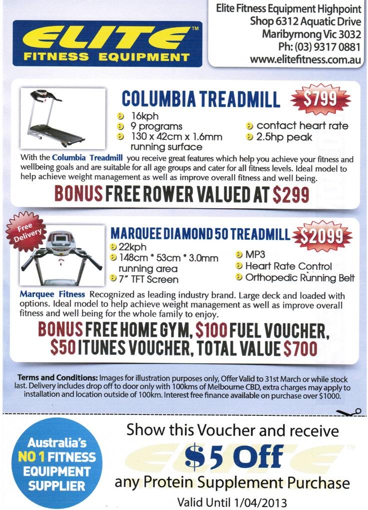 Bonus Deals At Elite Fitness Equipment, Treadmills on Sale